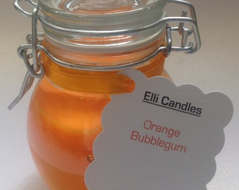 Handmade bubblegum scented candles. Our customers love these candles, we're sure you will too! 4 options available