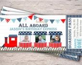 Items Similar To Birthday Train Express Invitation Boy