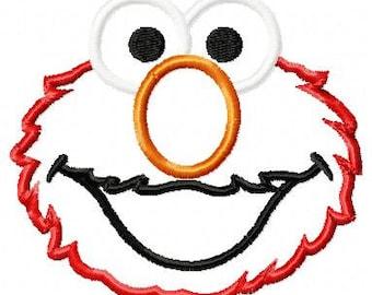 Elmo Applique Design dst, exp, hus, jef, pes, sew, vip, vp3, Formats Digital INSTANT DOWNLOAD