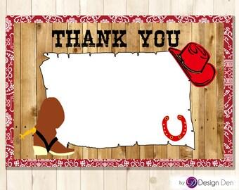 Cow Boy & Cow Girl Birthday party Thank you Card / Chalkboard/Printable Digital. #TK1022