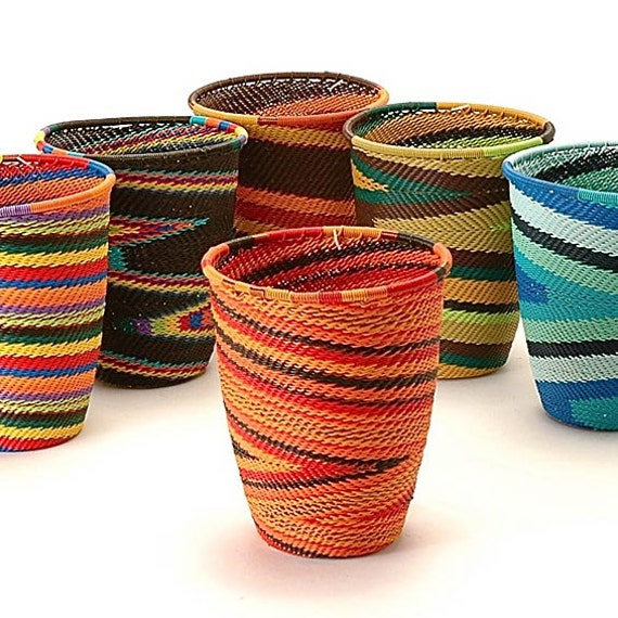 Handmade Baskets From Africa : Items similar to handmade wire baskets south africa