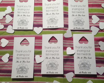 Personalised just married Thank you tags