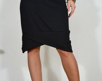 Hand made elastic pencil skirt/ Stretchy pencil skirt / black skirt.