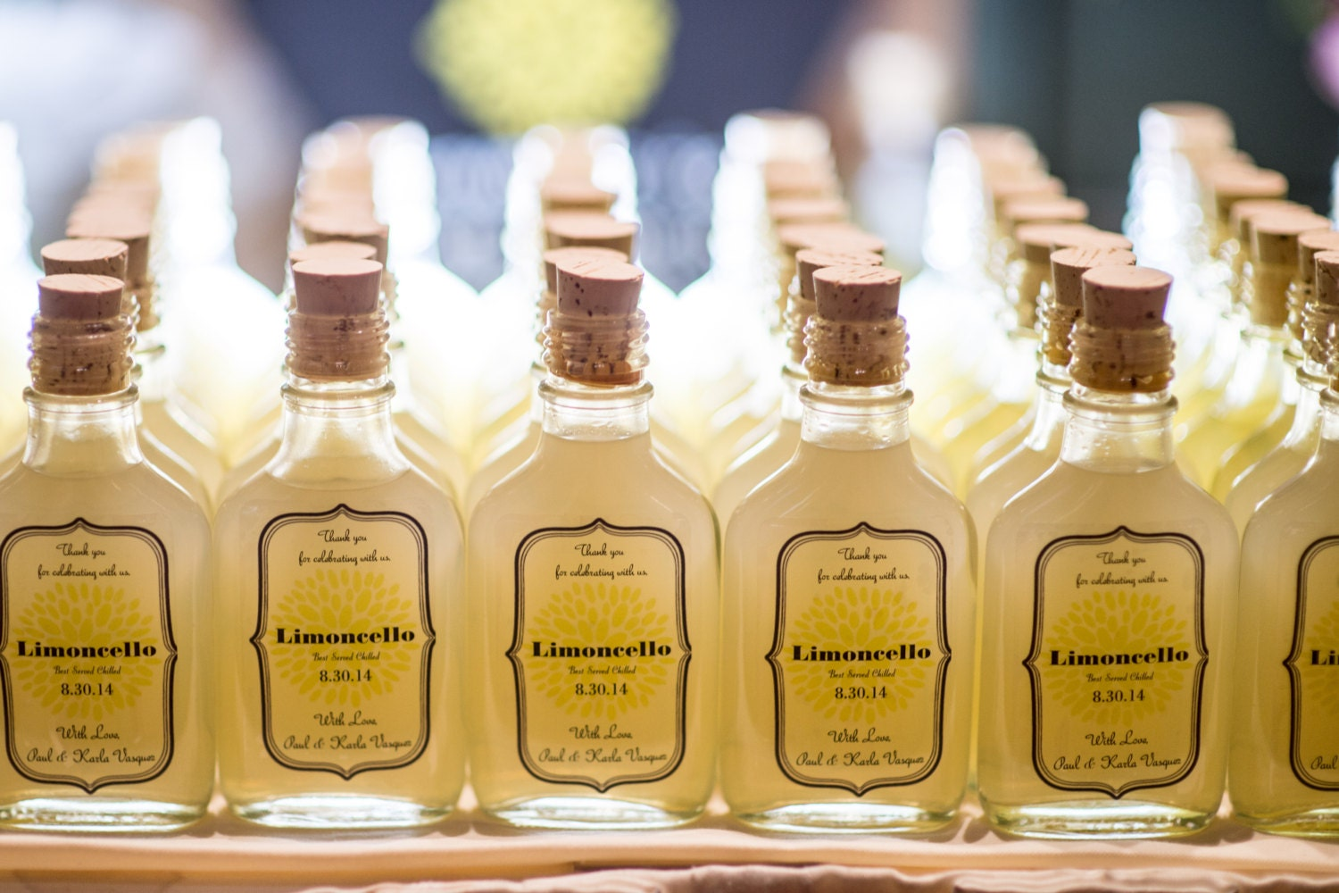 Wedding Favors Custom Limoncello Whiskey Glass Bottles