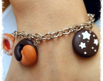 Polymer Clay cookies Bracelets