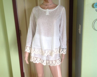 Jersey Knit Sleep Shorts/PyjamaShorts/Tap Shorts with Lace Trim