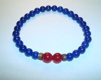 Aventurine crystal beads, Red jade crystal beads, gamblers bracelet, crystal bracelet, gemstone bracelet