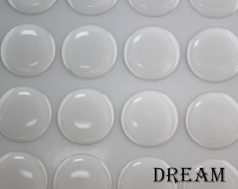 12mm Round Clear Epoxy Stickers - Clear Epoxy Domes - Transparent Resin Stickers - Jewelry Craft Epoxy Stickers - Bottlecaps Stickers