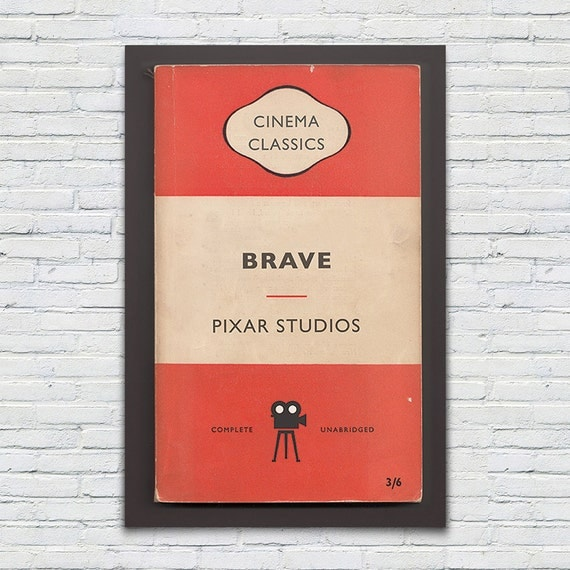 Penguin Books Classics Movie Poster — Brave Pixar Studios — High Quality Giclee Print Ikea Ribba Size