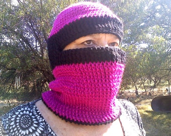 Flashing Fuchsia Snowboard Mask
