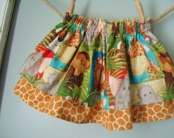 Twirl Skirt - Jungle/Zoo Babies - Layered