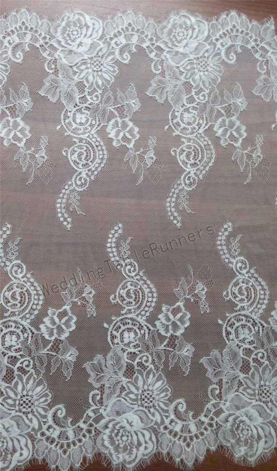 Lace table runner 7ft 10ft x 23 wide white table for 10 foot table runner