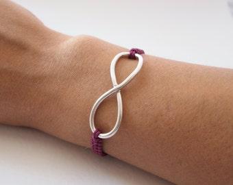 Infinity Bracelet in Silver
