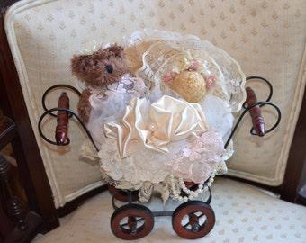 Vintage/Victorian Home Decor Display Cart/Basket
