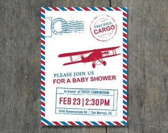 Precious Cargo Baby Shower Invitation - DIY