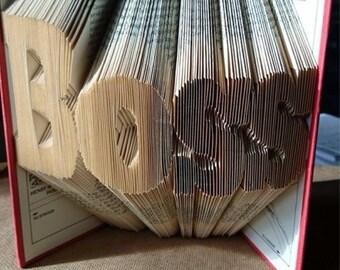 "Book Folding Pattern for ""Boss"""