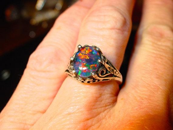 like this item - Black Opal Wedding Rings