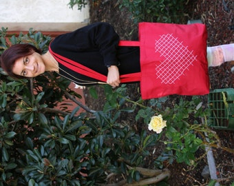 Heart Canvas Tote Bag