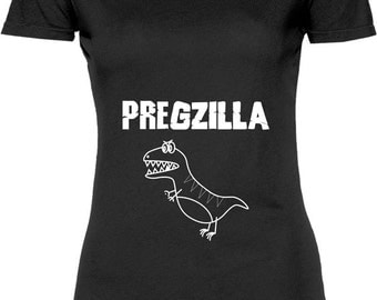 Funny Pregzilla Tshirt Gift T-shirt Tee Shirt Womens Mother Christmas Pregnant Maternity Expecting Family Cool Family Mom T-shirt Tee Shirt