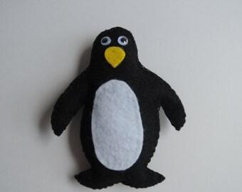 Waddles the Penguin ornament, felt decoration