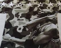Black and white camouflage Michael Jordan Custom dryfit shirt sizes ( small - 3x )