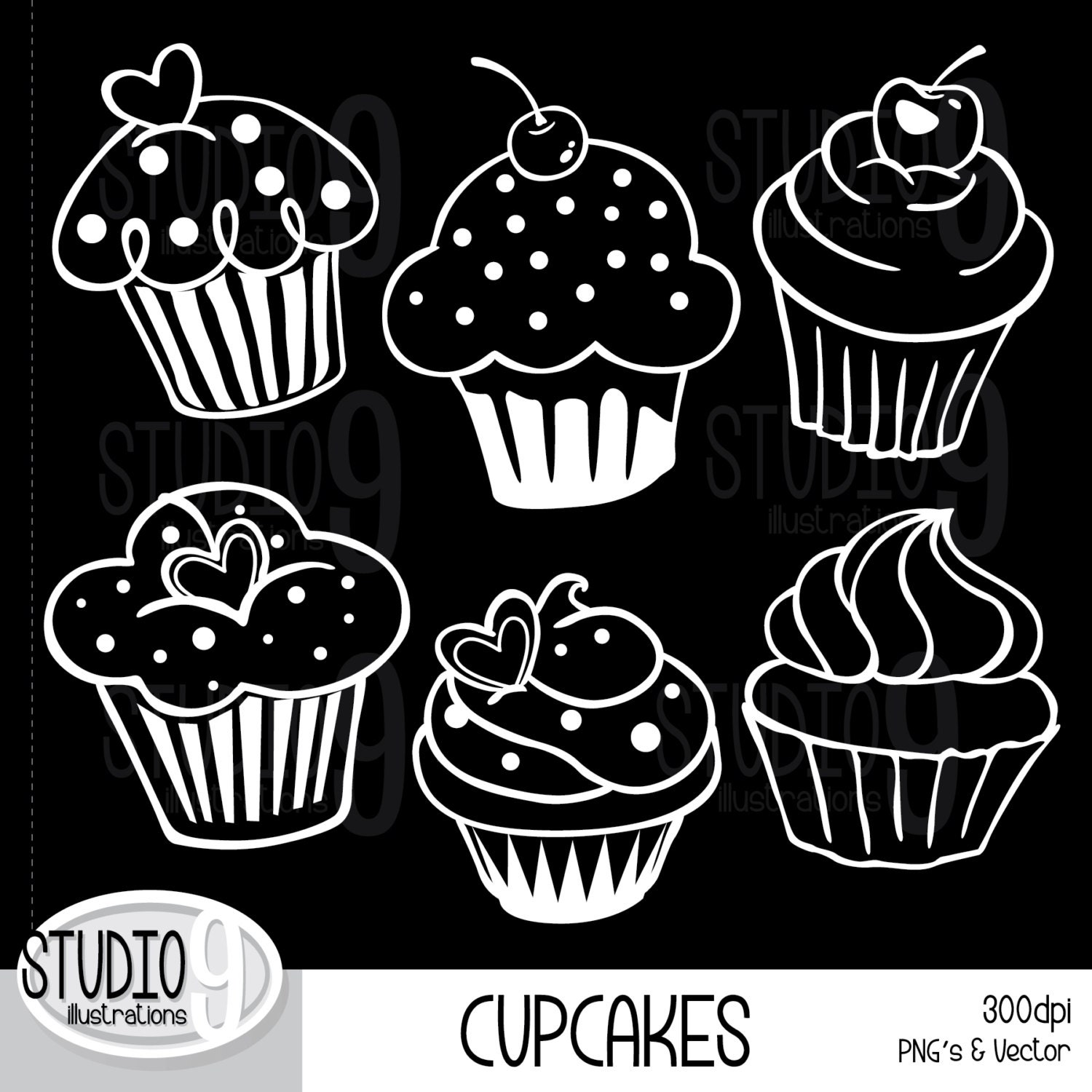 Cupcake Clipart Png Cupcakes Clipart White Outline
