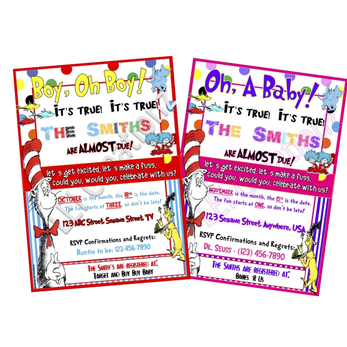 dr seuss baby shower invitation baby invitation by leicreationz