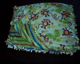 Monkey tie blanket