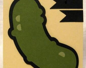 Handmade cute blank pickle card