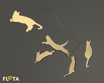 Beautiful Hanging Mobile- Cats- Home Decor