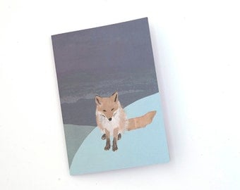A5 Notebook with Fox illustration