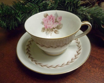 Noritake China,  Rosemont Pattern, Cup And Saucers