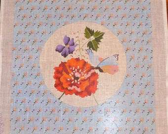 Floral Needlepoint Canvas