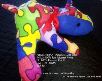PUZZLE Hippo - Plush Toy (Autism Line) (Limited Edition)
