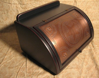 Vintage 2 1/2 loaf copper punched star edge distressed. Handmade in USA!  FREE SHIPPING