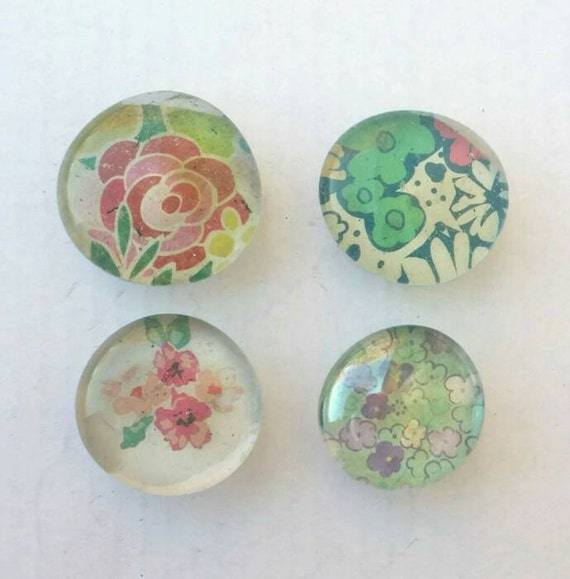 Glass Stone Magnets Decoupage Glass Magnets