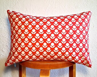 Items Similar To Red Bee With Geometric Pattern Round
