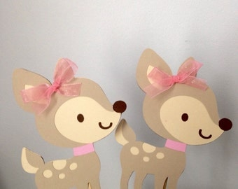 3 pcs Girl Fawn Centerpieces