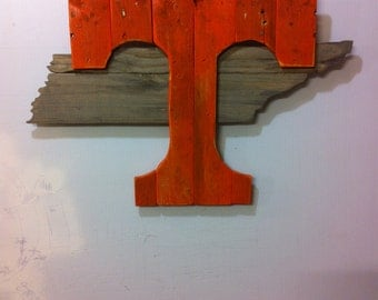 Rustic Tennessee Vols Wall Art
