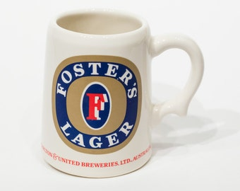 Franklin Porcelain © 1981 Foster's Lager Beer Mini Mug / Tankard - Limited Edition - Tankards of the World's Great Breweries - Mug, Stein