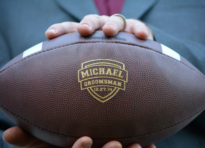 Groomsmen Football Personalized Wedding Gift College