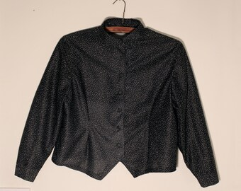 Vintage Polka Dot Blouse Short Jacket