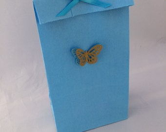 Cinderella Butterfly Party Favor Bag, Thank You Tag and Ribbon: 10+ Butterfly Party Paper Favor Bag, Gift Bag, Thank You