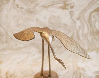 Vintage Brass/Gold Crane