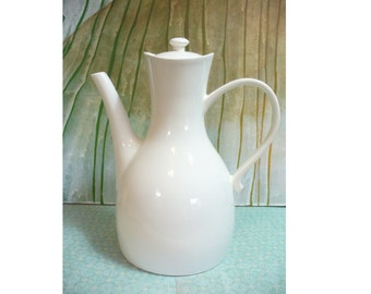 Vintage white Hall tea pot - Mid Century Ernest Sohn design- # HS-TP-05