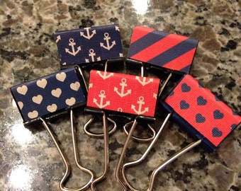 Nautical binder clips