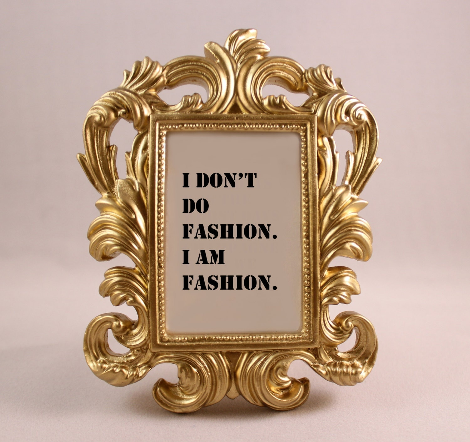 custom framed quote coco chanel fashion quote i am fashion motivational inspriational home decor gift office desk decor ornate frame stencil