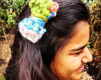 Knitted Bow Hair Clip