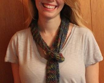 Skinny multicolor alpaca scarf
