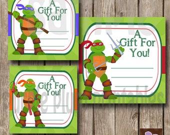 Ninja turtles tags | Etsy
